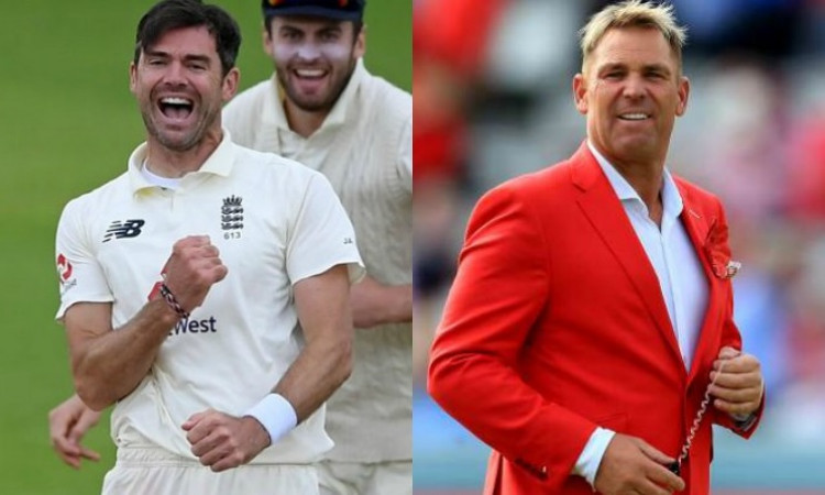 James Anderson and Shane Warne