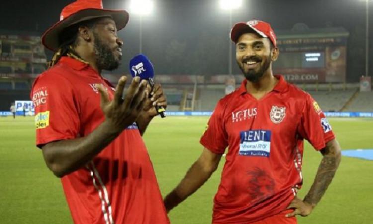Kl Rahul and Chris Gayle