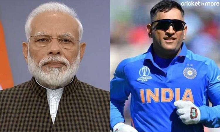 MS Dhoni and PM Modi