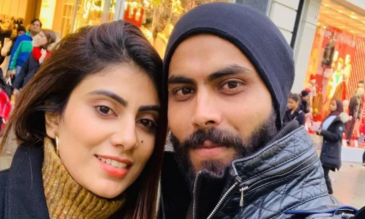 Ravindra Jadeja with his wife