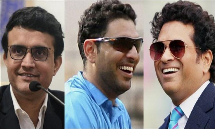 Sachin, Yuvraj and Ganguly