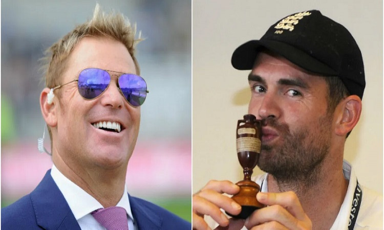 Shane Warne and James Anderson