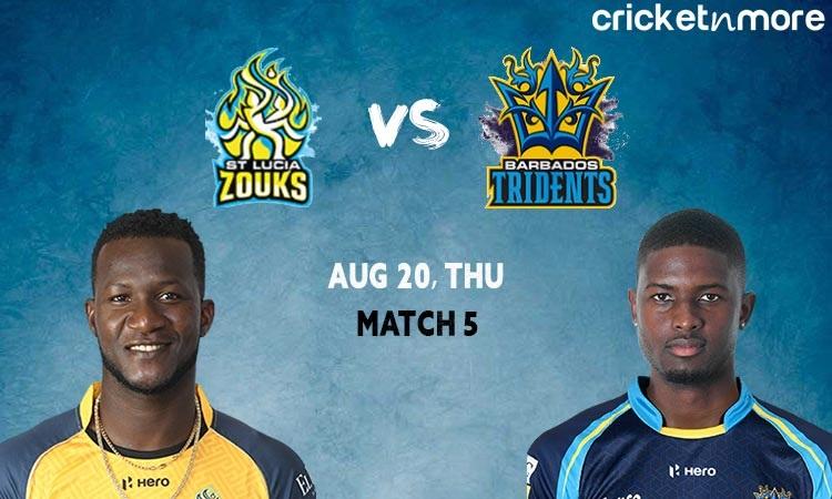 St Lucia Zouks vs Barbados Tridents