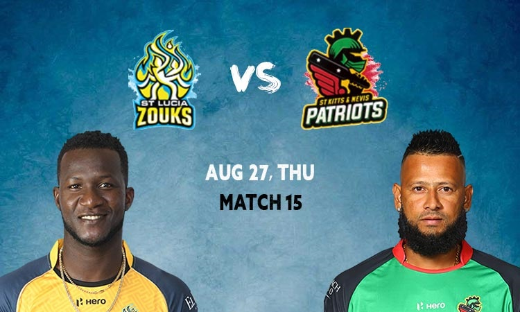 St Lucia Zouks opt to bowl vs St Kitts and Nevis Patriots