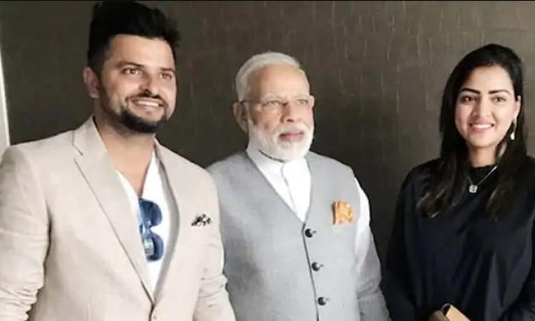 Suresh Raina and PM Narender Modi