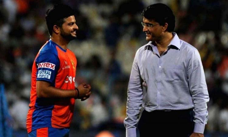 Suresh Raina and Sourav Ganguly