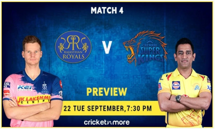 Rajasthan Royals vs Chennai Super Kings Preview  and Probable XI
