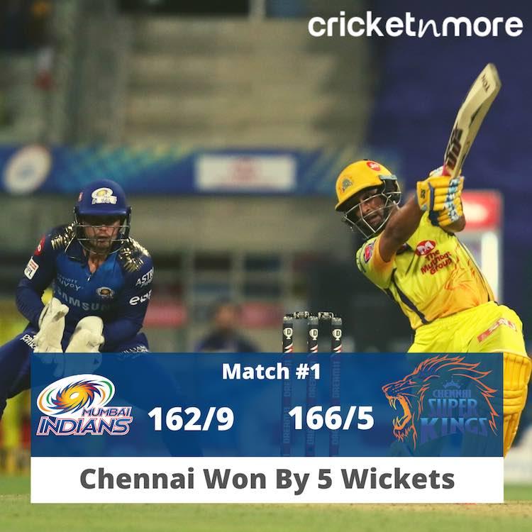 चेन्नई सुपर किंग्स ने मुंबई इंडियंस को 5 विकेट से हराया फोटो