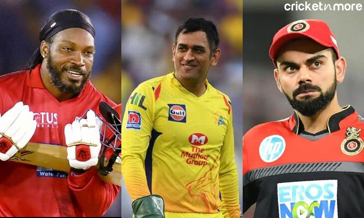 Chirs Gayle,MS Dhoni and Virat Kohli