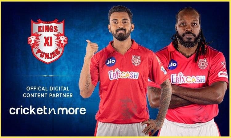 cricketnmore Official Digital Content Partner of Kings XI Punjab
