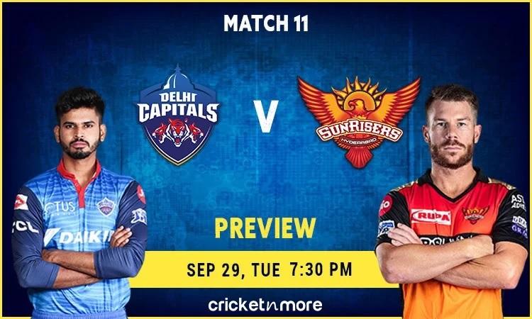 Delhi Capitals vs Sunrisers Hyderabad Predicted Playing XI