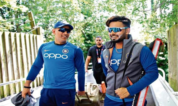 Dhoni and Rishabh Pant