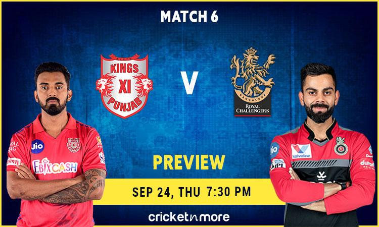 Kings XI Punjab vs Royal Challengers Bangalore - MyTeam11 Fantasy Cricket Tips, Prediction & Pitch R