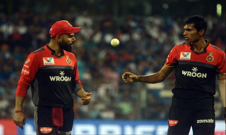 Kohli and Navdeep saini