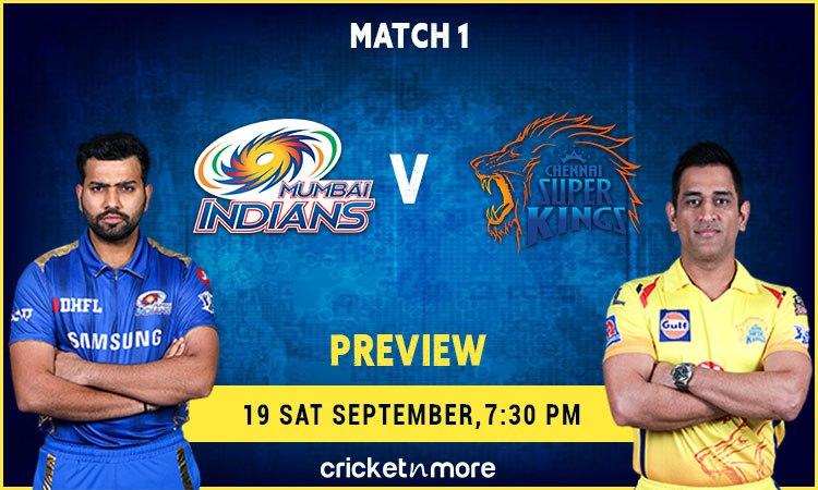 Mumbai Indians vs Chennai Super Kings IPL 2020 Fantasy XI