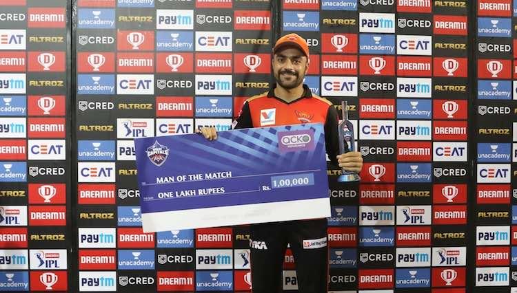 Rashid Khan (Player Of The Match, SRH V DC) Images