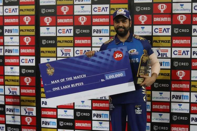 Rohit Sharma   Player Of The Match Images