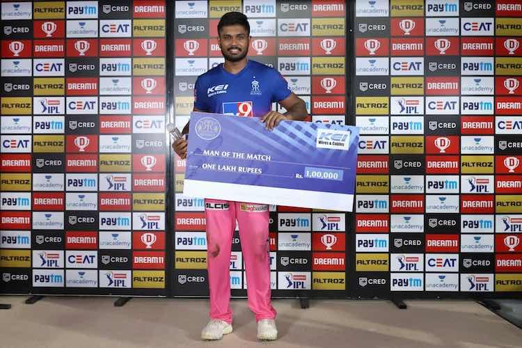 Sanju Samsun (Player Of The Match, RR V KXIP) Images