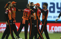 sunrisers hyderabad beat Delhi Capitals to register first win of ipl 2020