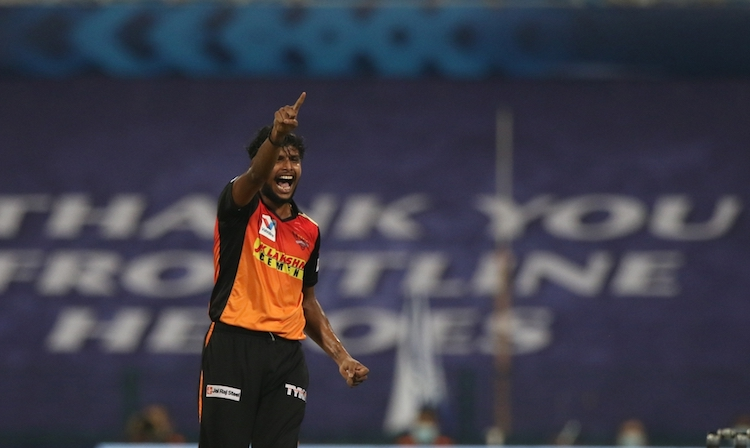 T Natarajan (SRH V KKR) Images in Hindi