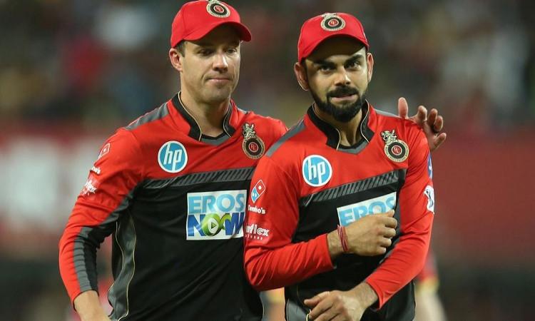 Virat Kohli and AB De Villiers RCB