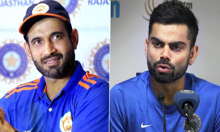 Virat Kohli and Irfan Pathan