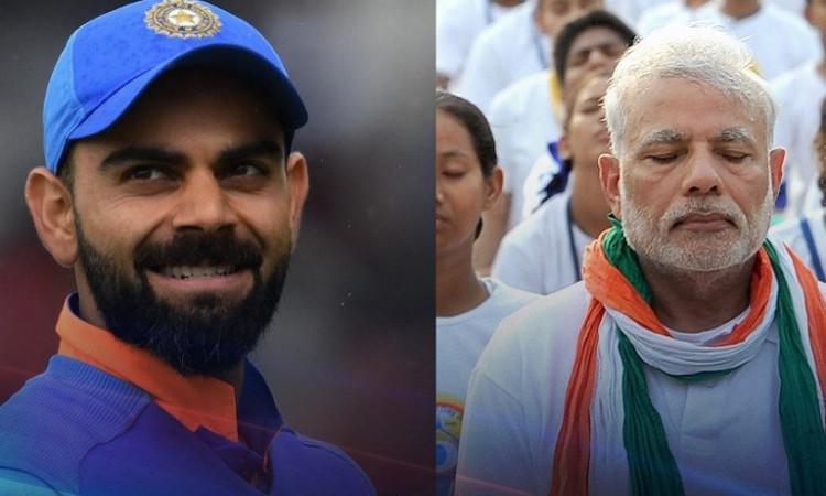 Virat Kohli and PM Modi