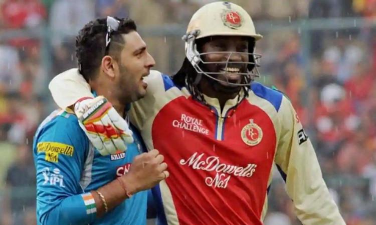 Yuvraj Singh and Chris Gayle