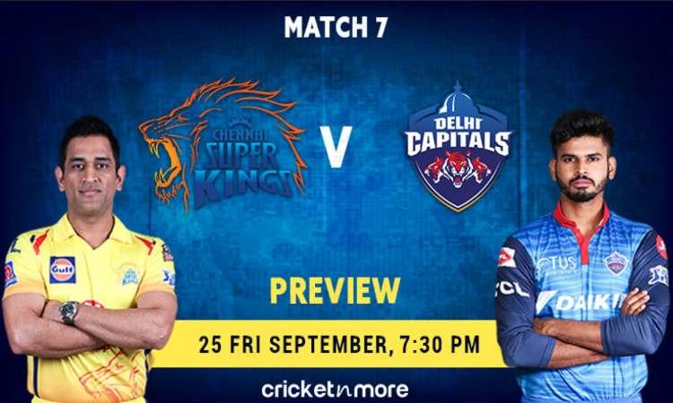 चेन्नई सुपर किंग्स VS दिल्ली कैपिटल्स- MyTeam11, फैंटसी क्रिकेट टिप्स, संभावित प्लेइंग 11, पिच रिपोर