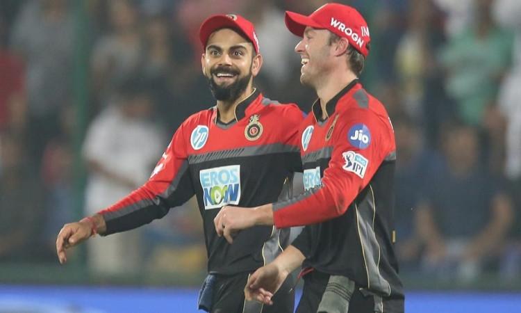 A cute banter between Royal Challengers Bangalore batsman Virat Kohli and AB de Villiers watch video