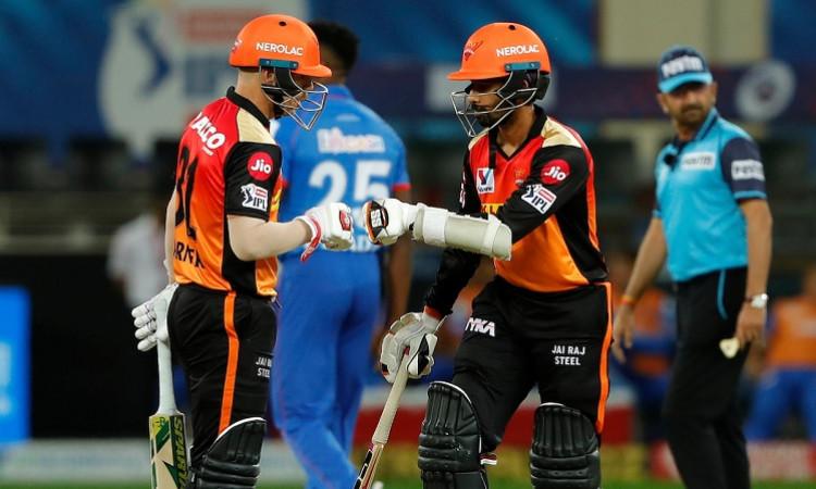 David Warner and Wriddhiman Saha IPL 2020