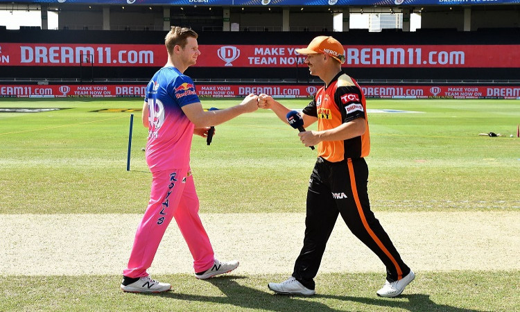 IPL 2020, Toss - Sunrisers Hyderabad v Rajasthan Royals