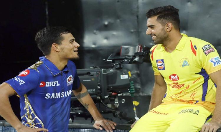 IPL 2020 CSK vs MI Mumbai Indians bowler Rahul Chahar talks about rivalry with his brother Deepak ch
