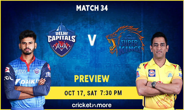 IPL 2020: Delhi Capitals VS Chennai Super Kings – Fantasy Cricket Tips, Prediction & Pitch Report