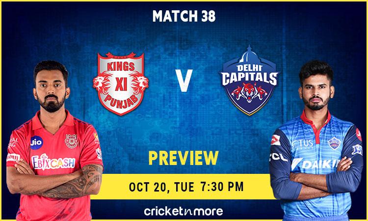 IPL 2020 Delhi Capitals VS Kings XI Punjab – Fantasy Cricket Tips, Prediction & Pitch Report