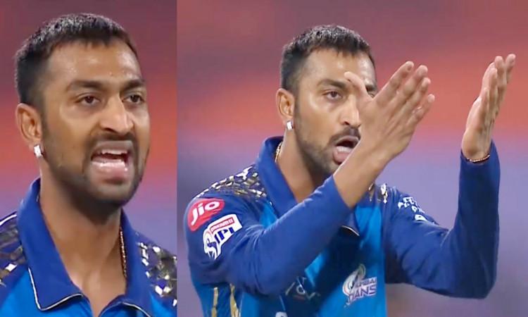 IPL 2020 MI vs CSK Krunal Pandya Got Angry and Abuses his team mate Ishan Kishan