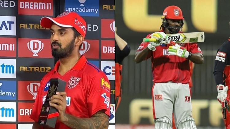 KL rahul dedicates his man of the match award to Chris Gayle in hindi
