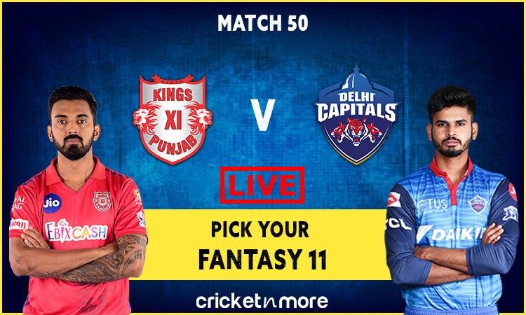 IPL 2020 Kings XI Punjab vs Delhi Capitals, Pick your Dream XI fantasy Team
