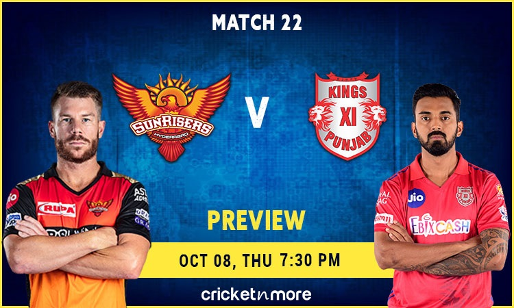 Kings XI Punjab vs Sunrisers Hyderabad Playing XI