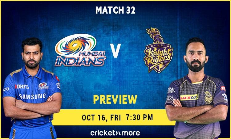 Mumbai Indians vs Kolkata Knight Riders preview and Probable XI