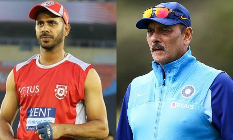 Manoj Tiwary and Ravi Shastri