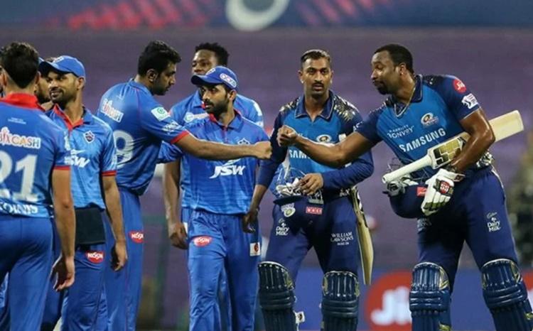 Mumbai Indians and Delhi Capitals