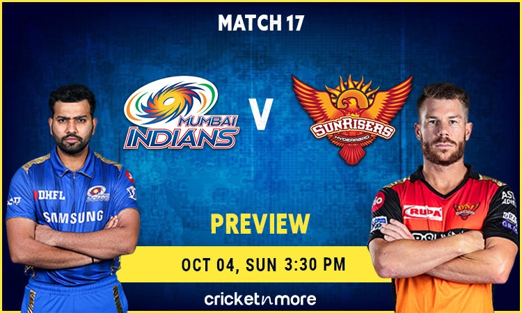 Mumbai Indians vs Sunrisers Hyderabad Probable XI