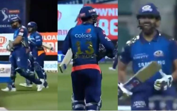 Mumbai indians batsman Quinton de Kock comes out to bat in training pant against kkr match watch vid