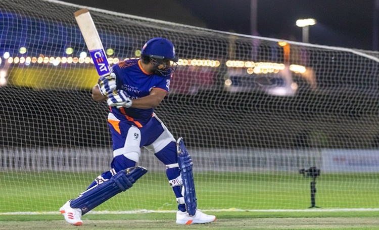 Mumbai indians skipper Rohit Sharma batting in the nets which must confused fans watch video in hind