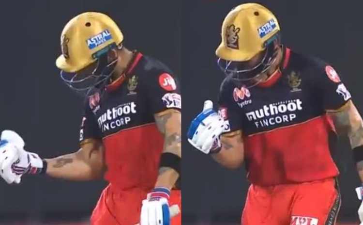 RCB captain Virat Kohli gets trolled by users after hitting his first boundary in 19th over in hindi