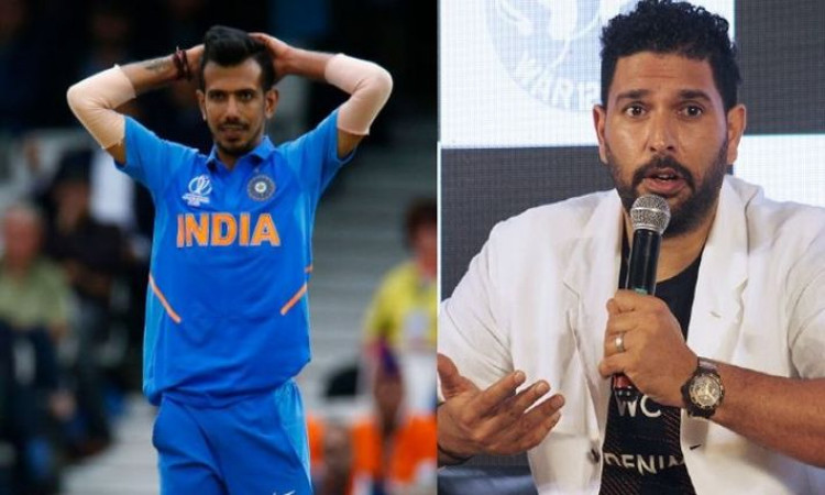 RCB spinner Yuzvendra Chahal and former Indian cricketer Yuvraj Singh indulged in a funny banter on