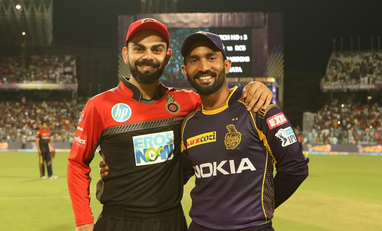RCB won the toss and opted to bat first against KKR