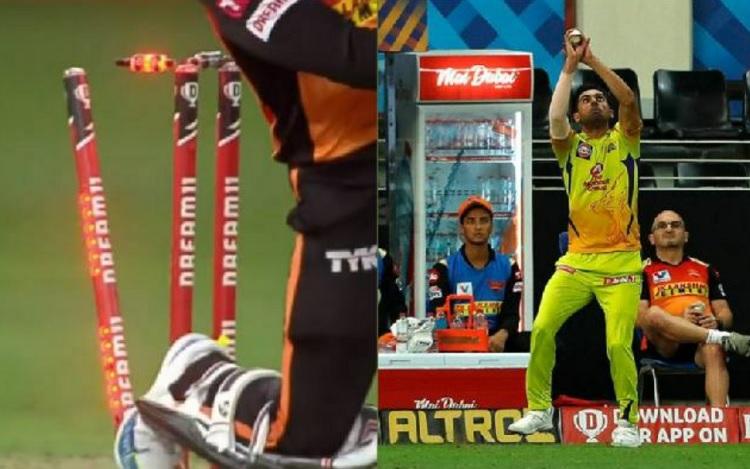 SRH player Rashid Khan was dismissed twice in one ball against MS Dhoni team Chennai Super Kings
