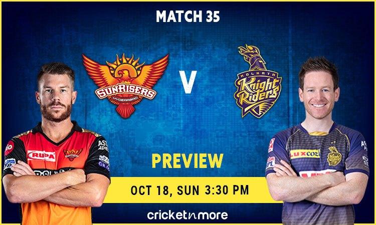 IPL 2020: Sunrisers Hyderabad VS Kolkata Knight Riders – Fantasy Cricket Tips, Prediction & Pitch Re